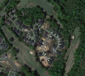 Residential Site Development Arial View